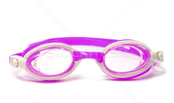 Védőszemüveg úszik fehér izolált nyár szemüveg Stock fotó © BSANI