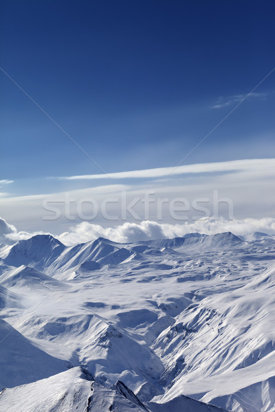 Top view of snow capped mountains Stock photo © BSANI