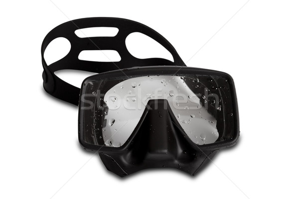 Black diving mask with water drops Stock photo © BSANI