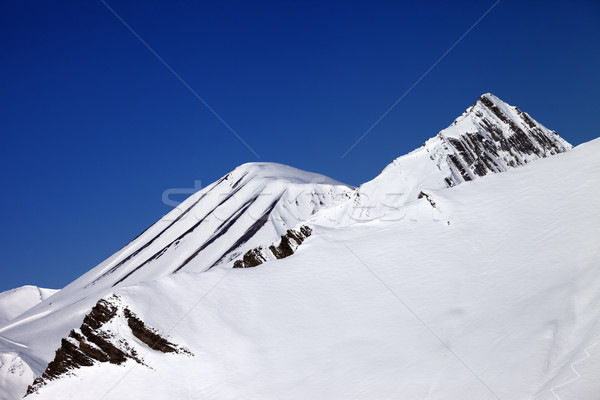 Helling Blauw heldere hemel mooie dag kaukasus Stockfoto © BSANI