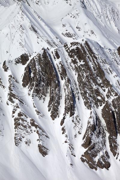 Winter rocks in snow Stock photo © BSANI