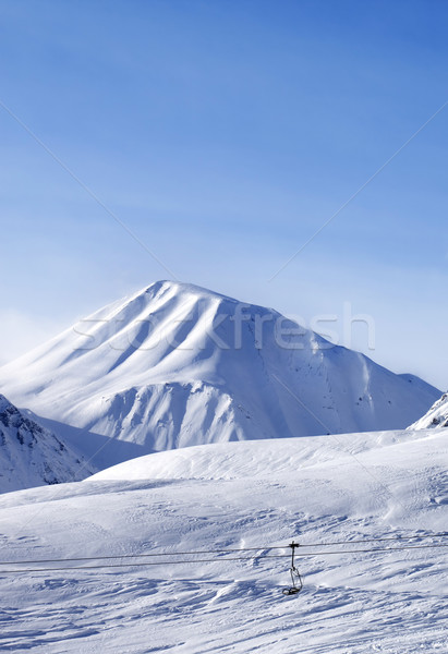 Stock photo: View on ski slope at nice day