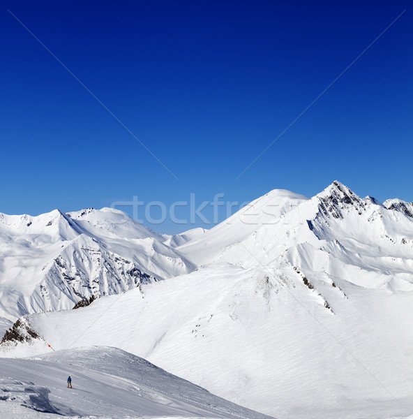 Ski slope in nice sun day Stock photo © BSANI