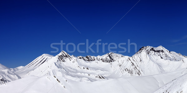 Panoramic view from ski slope in nice sun day Stock photo © BSANI