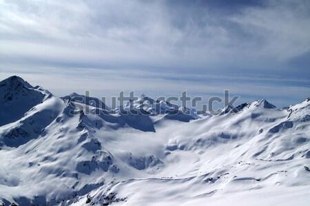 Kafkaslar dağlar görmek gökyüzü manzara Stok fotoğraf © BSANI