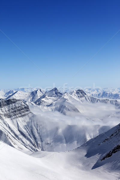 High mountains in haze Stock photo © BSANI