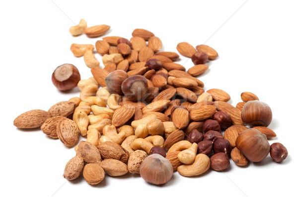 Cashews, hazelnuts and almonds Stock photo © BSANI