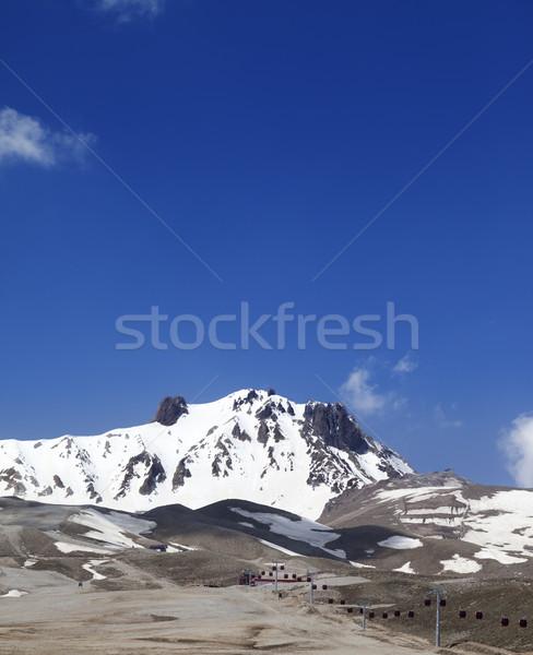 Ski resort in spring Stock photo © BSANI
