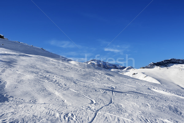 Off-piste slope at sun day Stock photo © BSANI