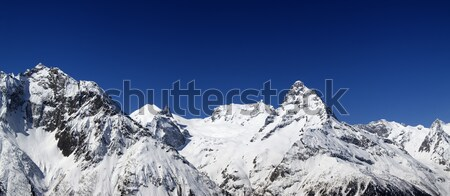 Panorama Caucasus Mountains Stock photo © BSANI