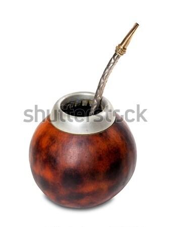 Calabash with bombilla Stock photo © BSANI