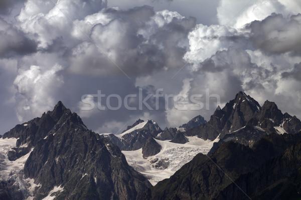 Cloudy mountains. Caucasus Mountains. Stock photo © BSANI