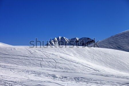 Ski resort with off piste slope at nice sun day Stock photo © BSANI