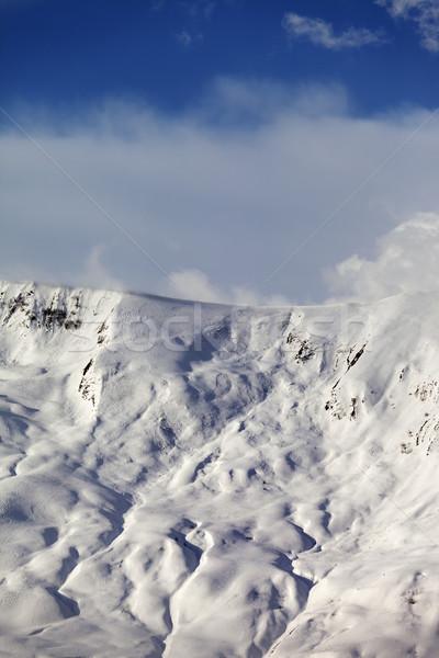 View on sunlight off-piste slope Stock photo © BSANI
