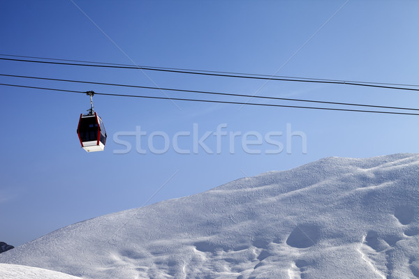 Gondola lift and off-piste slope at sun morning Stock photo © BSANI