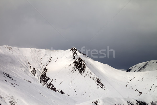 Off-piste slope and gray sky in wind day Stock photo © BSANI
