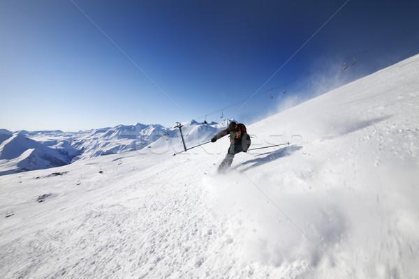 Skier on ski slope Stock photo © BSANI