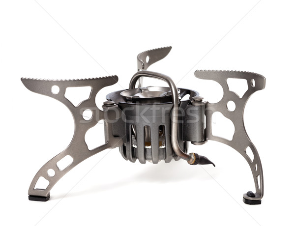 Camping gas stove on white background Stock photo © BSANI