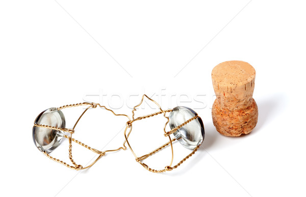 Cork from champagne wine and muselets Stock photo © BSANI