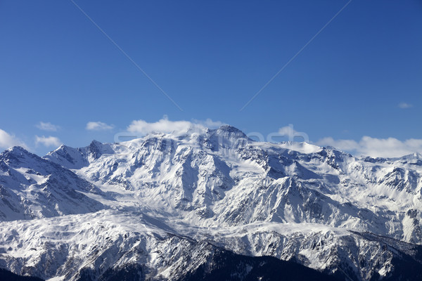 Winter mountains in nice sunny day Stock photo © BSANI