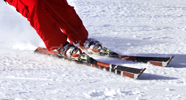 Ski finish in downhill Stock photo © BSANI
