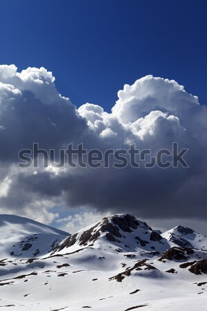 Snow mountains and blue sky Stock photo © BSANI