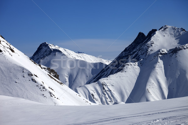 Ski piste at nice winter day Stock photo © BSANI