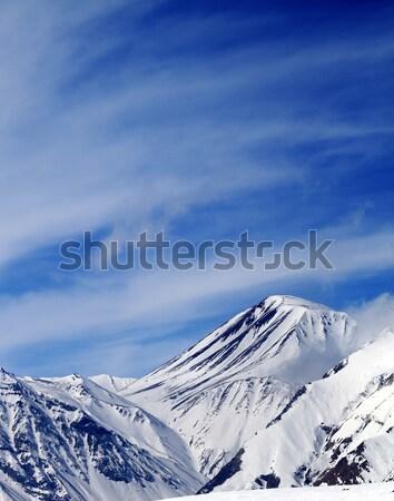 Mountain peak with snow Stock photo © BSANI