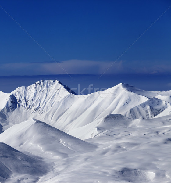 View on off-piste snowy slope at nice sunny day Stock photo © BSANI