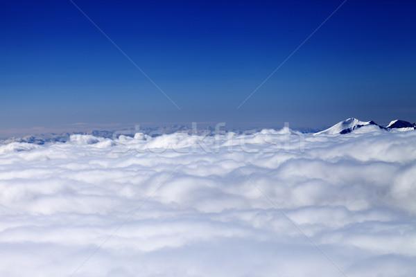 гор облака солнце зима день мнение Сток-фото © BSANI