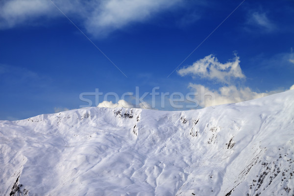View on off-piste slope in early morning Stock photo © BSANI