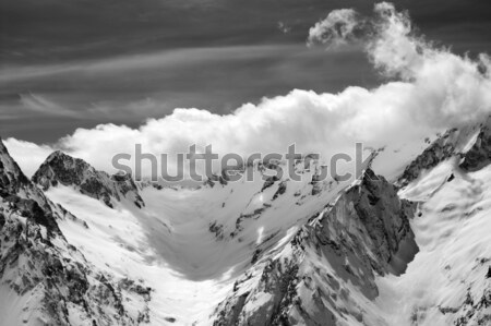 Mountains in snow. Panoramic view. Stock photo © BSANI