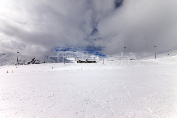 Ski slope in wind day before storm Stock photo © BSANI