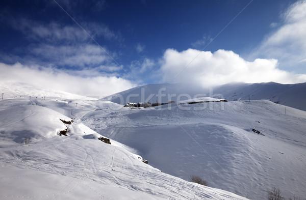 Off-piste slope at sun morning Stock photo © BSANI