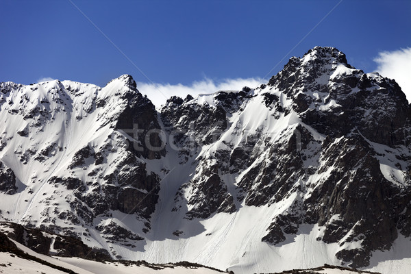 Snow rocks at spring wind day Stock photo © BSANI