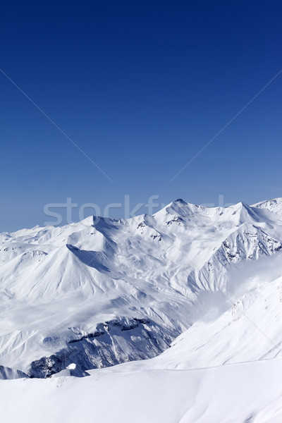 Montanas cáucaso Georgia vista pista de esquí cielo Foto stock © BSANI