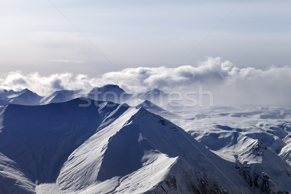 Evening mountains in haze Stock photo © BSANI