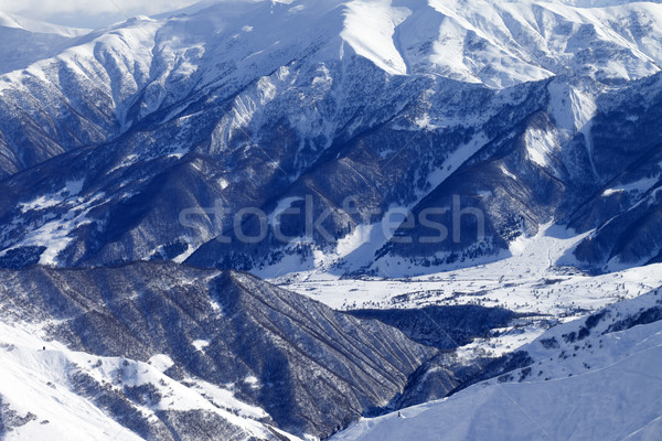 Top view from off-piste slope Stock photo © BSANI