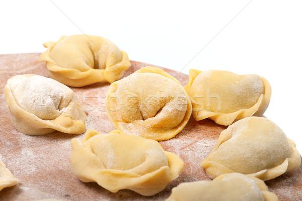 Maison ravioli cuisine blanche mise au point sélective Photo stock © BSANI