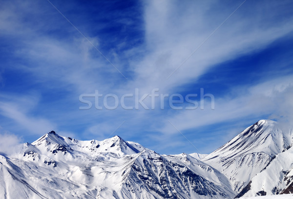 Winter snowy mountains in windy day Stock photo © BSANI
