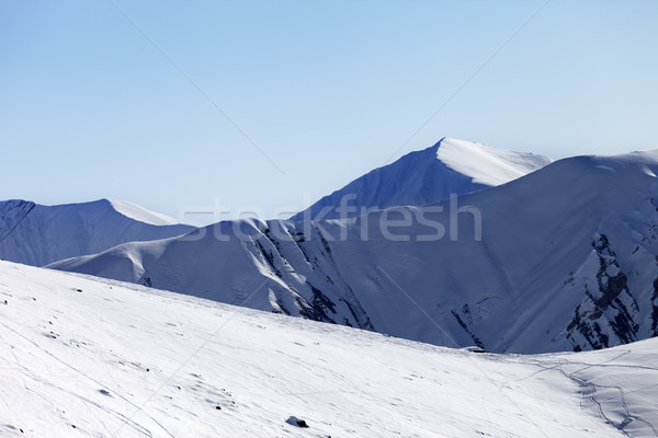 Off-piste slope at nice sunny morning Stock photo © BSANI