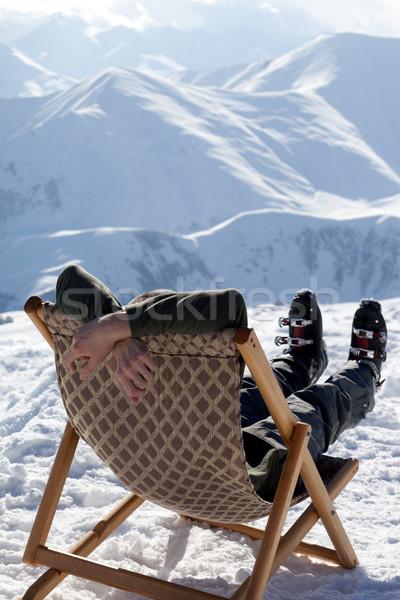 Síelő tél hegyek pihen Kaukázus Grúzia Stock fotó © BSANI
