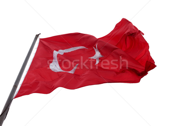 Turkish flag waving in wind Stock photo © BSANI