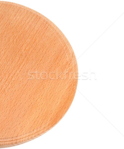 Round wooden kitchen board Stock photo © BSANI