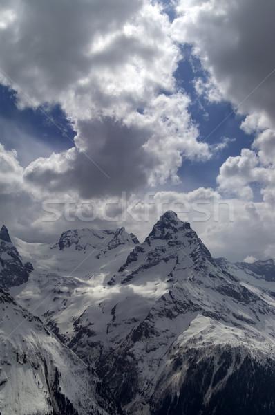 Kaukasus landschap ijs winter Blauw rock Stockfoto © BSANI