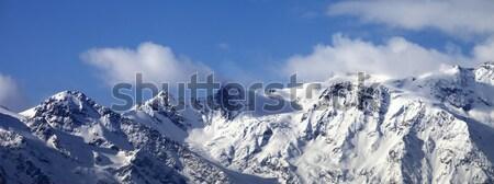 Panoráma Kaukázus hegyek tájkép hegy jég Stock fotó © BSANI
