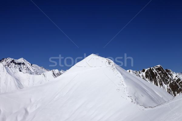 Mavi açık gökyüzü güzel kış gün Stok fotoğraf © BSANI