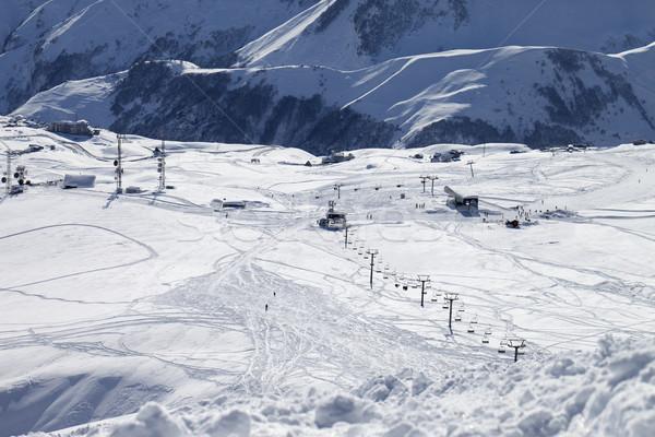 Top view on ski slope Stock photo © BSANI