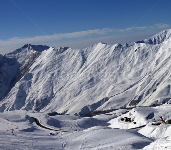 Views of ski resort Gudauri Stock photo © BSANI