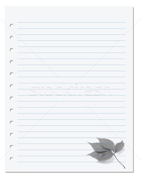 ноутбук бумаги Виргиния лист школы природы Сток-фото © BSANI